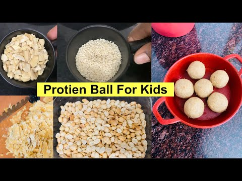 PROTEIN BALL RECIPE FOR KIDS|Healthy Snacks|Energy Booster