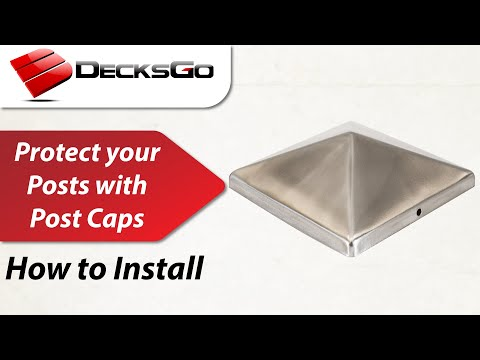 How to Install our Metal Post Caps