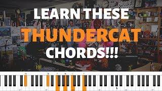 THUNDERCAT - THEM CHANGES   Piano Tutorial
