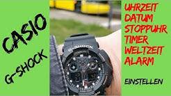 Casio G-Shock einstellen - alle Funktionen erklärt