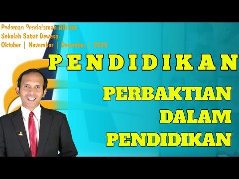 PELAJARAN SEKOLAH SABAT  | PELAJARAN 7 | PERBAKTIAN DALAM PENDIDIKAN