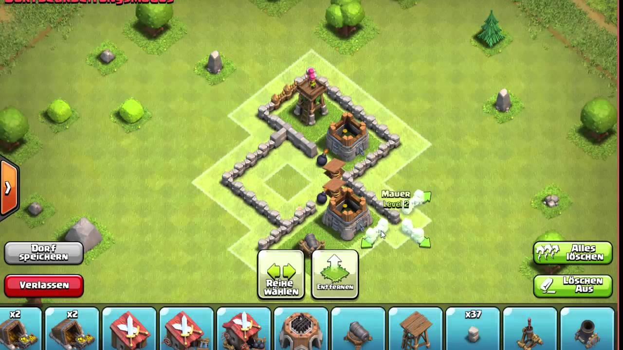 Clash Of Clans Rathaus Lvl 4 Base By Theclasherslp