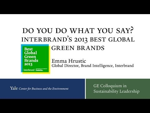 Do You Do What You Say? Interbrand's 2013 Best Global Green Brands