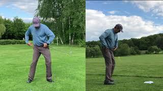 Improve your leg work for better golf shots. Easiest golf method.