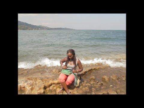 GISENYI, RWANDA; ROAD TRIP, LAKE KIVU BEACH