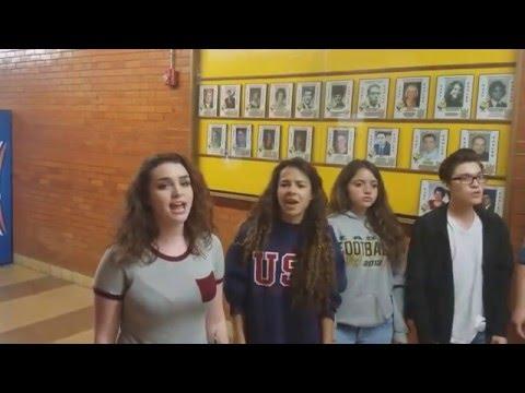 Pueblo East High School Choir singing acapella for Ellen DeGeneres