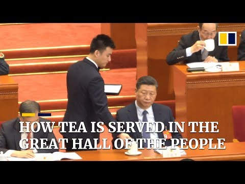 How tea is served in the Great Hall of the People in China