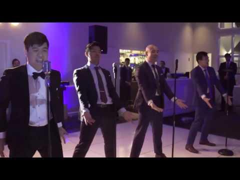 AWESOME Choreographed Groomsmen Dance Sal & Michelle Wedding