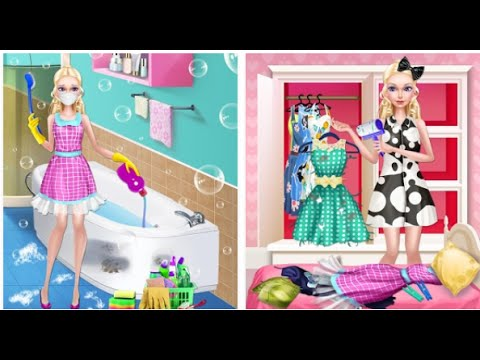 Beauty Doll's House Cleaning Videos games for Kids - Girls - Baby Android İOS Free 2015