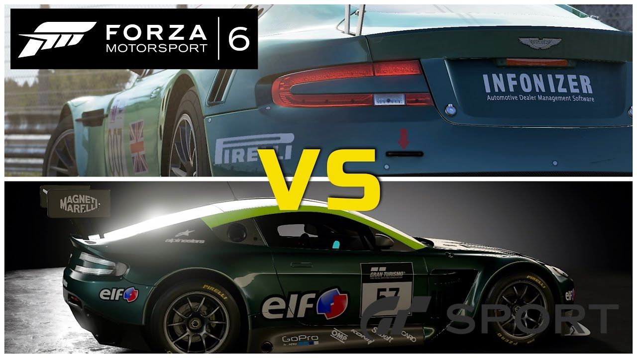 gran turismo sport vs forza 6 nordschleife n rburgring ps4 xbox one youtube. Black Bedroom Furniture Sets. Home Design Ideas