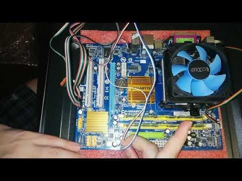 Шаг 5: как установить матер. плату в корпус компьютера/куда подсоединить провода (НУБ собирает ПК)