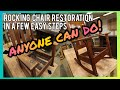 Rocking Chair Furniture Restoration Makeover how to Bob Ross Style   3.31.2020