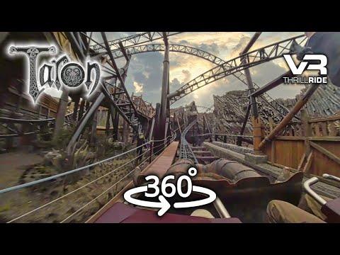 360° Taron Intamin Multi Launch Coaster - 360 video virtual reality POV Phantasialand VR Experience