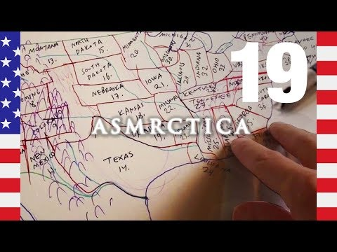ASMR Learning by Drawing Map of the US - Soft Spoken