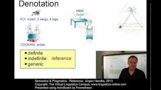 Semantics and Pragmatics - Reference