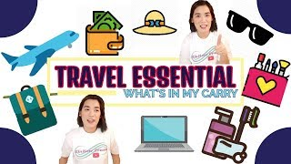 TRAVEL ESSENTIAL (What's in my carry?)  | TinKerr Craze