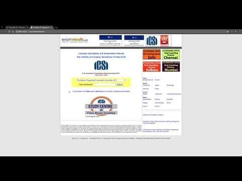 How to check ICSI CS Foundation Result of December 2017 Examination