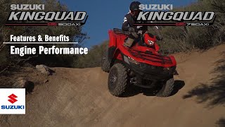 KINGQUAD 750 /500 AXi 4X4 / POWER STEERING OFFICIAL TECHNICAL PRESENTATION VIDEO -Engine- thumbnail