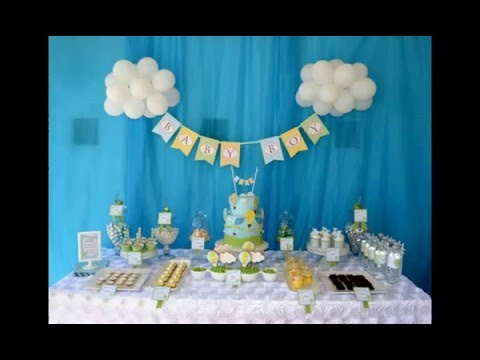 Baby Boy Shower Decorations Ideas 2016 Youtube