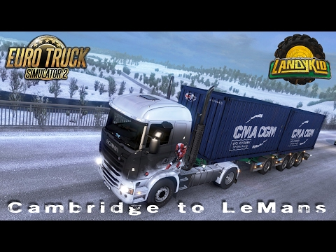 Euro Truck Simulator 2 | 20 tons of coffee Cambridge to LeMans