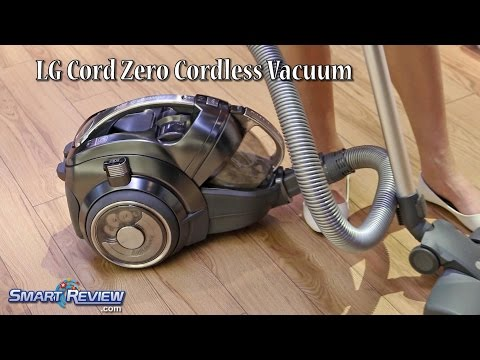 CES 2015 | LG Cord Zero Cordless Canister Vacuum | Dirt Compactor | Lithium Ion Battery | CordZ
