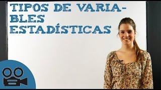 Tipos de variables estadísticas