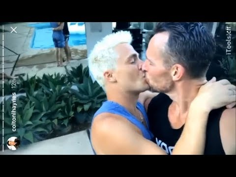 Colton Haynes   Kissing with Jeff Leatham   Pool Day with Emily Bett Rickards   InstagramStories