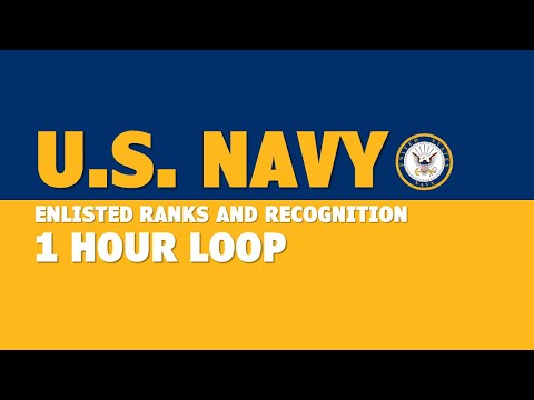 Navy Enlisted Ranks And Recognition (1 Hour)