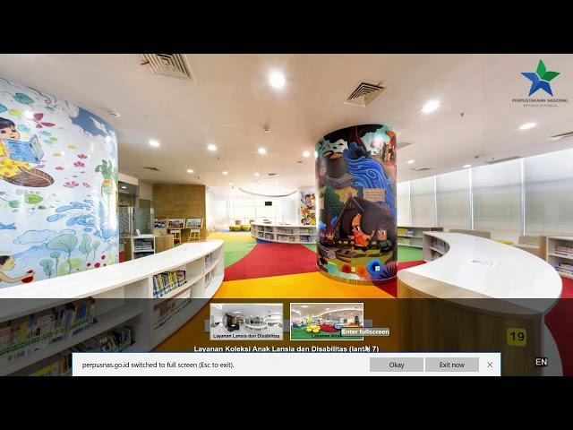 Jelajahi Gedung Layanan Perpusnas RI dengan Aplikasi Virtual Tour Perpusnas