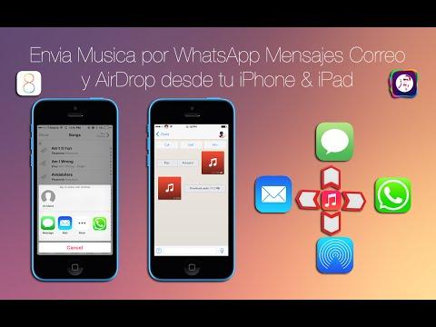 Como Enviar Musica por WhatsApp Mensajes & Correo desde tu iPhone & iPad iOS 8