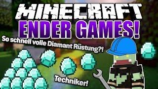 So schnell volle Diamant Rüstung!? Techniker - Minecraft ENDER GAMES SERIE #38 | ungespielt