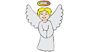How to Draw an Angel Easy step by step / Как нарисовать ангела(Draw4Kids channel created for those Kids who want to learn drawing, our lessons are easy to grasp and are shown in details how to draw cartoon characters, ..., 2017-01-11T12:18:09.000Z)