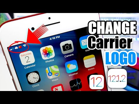 How to change my carrier logo on iphone contact pictures