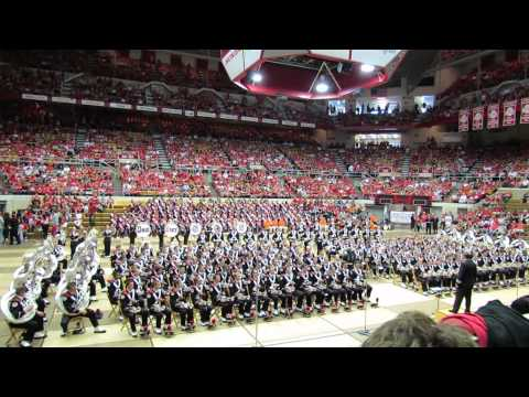 Ohio State Marching Band Slow Fight Song and Across The Field at 9 28 20 Skull Session OSU vs WI