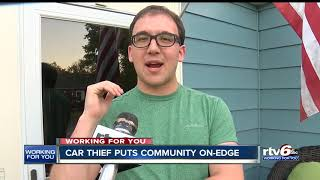 Car thief puts community on edge
