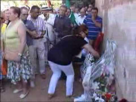Homenaje a las víctimas del franquismo en las tapias de San José (Granada, 20/07/2010)