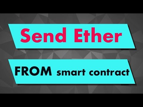 Solidity Tutorial: Sending Ether FROM A Smart Contract To Another Contract / Address