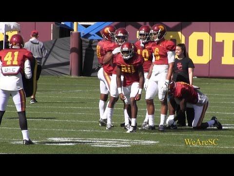 Wide Receiver Drills - 3/30 USC Spring Practice