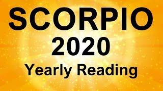 """SCORPIO 2020 YEARLY TAROT READING """" A GREAT YEAR AHEAD SCORPIO """""""