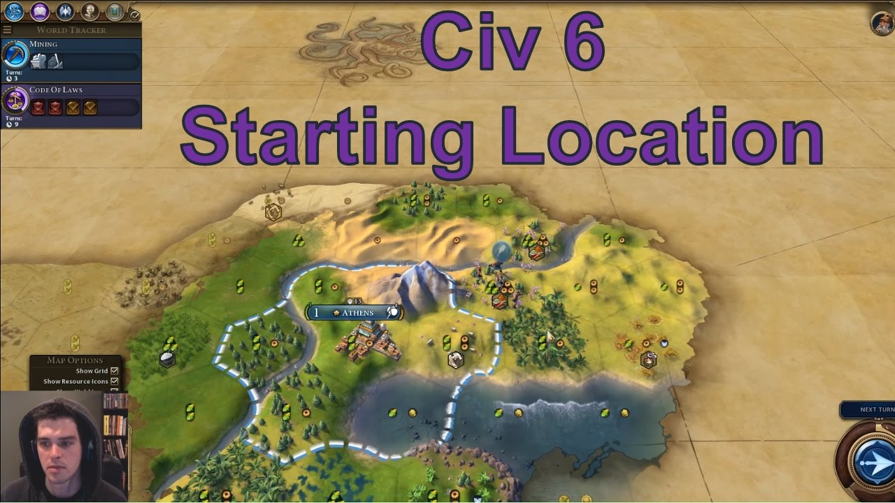 Civ 6 First City Strategy: Where should I settle? - YouTube
