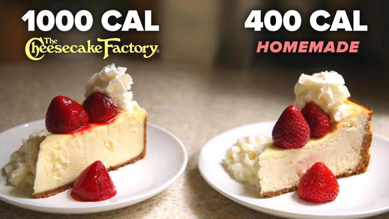 400-Calorie Vs. 1,000-Calorie Cheesecake Slice • Tasty