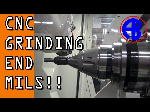 CNC Grinding an End Mill at AB Tools!