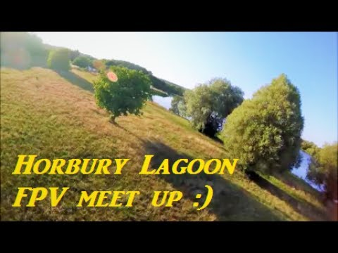 FPV acro practice at Horbury Lagoon    quadcopter racing drone Eachine Wizard x220