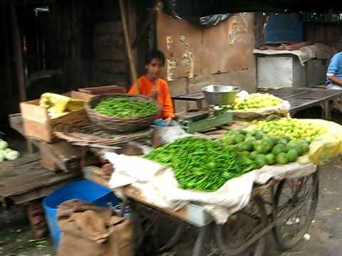 Indian Vegetable Market Area in Haldwani India ...Gobi...MMmmm :)