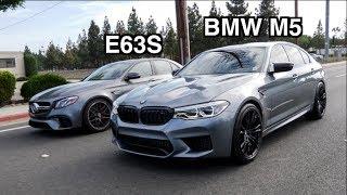 2018 BMW M5 vs Mercedes AMG E63S DRAG RACE!