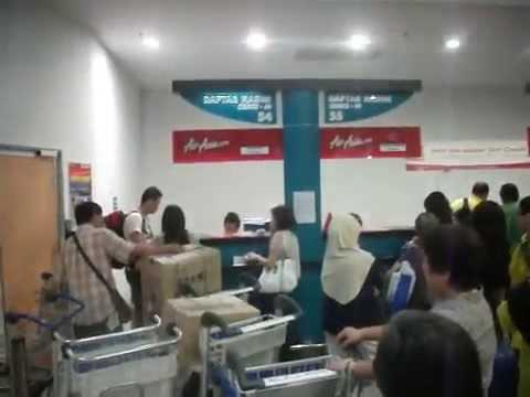 Check In Air Asia at Penang International Airport Malaysia