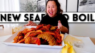 *NEW* GIANT LOBSTER TAIL SEAFOOD BOIL + GIANT SHRIMP + SNOW CRAB + CRAWFISH MUKBANG 먹방 EATING SHOW!