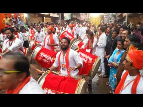Vighnaharan dhol pathak, Nashik - Nashikcha raja Visarjan 2016