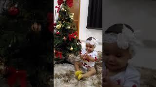 Emanuella e seu primeiro natal