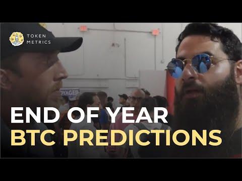 Bitcoin 2021 Interviews: Bitcoin End Of Year Price Predictions? Crypto Roundup   Token Metrics TV